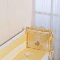 Бортик для кроватки Мишка с медом