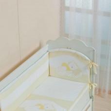 Бортик для кроватки Спящий мишка
