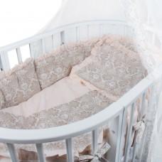 Комплект в кроватку БАРОККО, Светлый беж