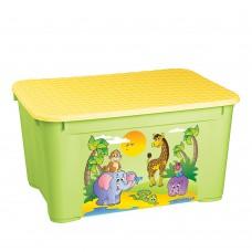 Ящик для игрушек с аппликацией, Зеленый