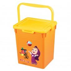 Контейнер для игрушек Маша и Медведь, Оранжевый